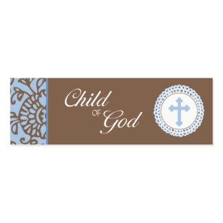 Child of God - Blue Favor Tag Pack Of Skinny Business Cards