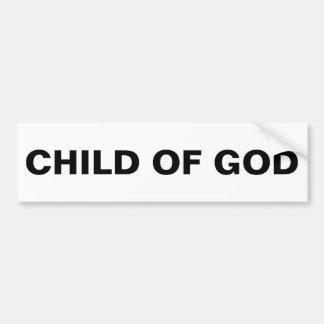 """Child Of God"" Bumper Sticker"