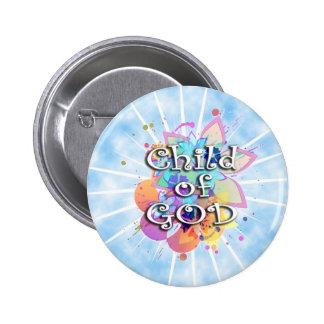 Child of God, Pastel 6 Cm Round Badge