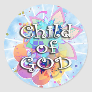 Child of God, Pastel Classic Round Sticker