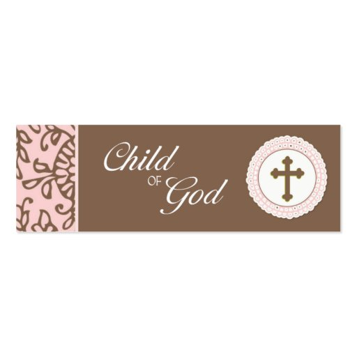 Child of God - Pink Favor Tag Business Card Templates