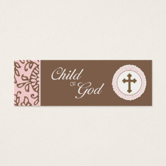 Child of God - Pink Favor Tag Mini Business Card