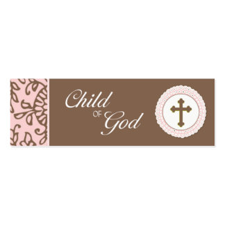 Child of God - Pink Favor Tag Pack Of Skinny Business Cards