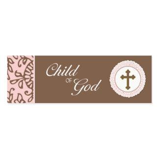 Child of God - Pink Favor Tag Pack Of Skinny Business Cards