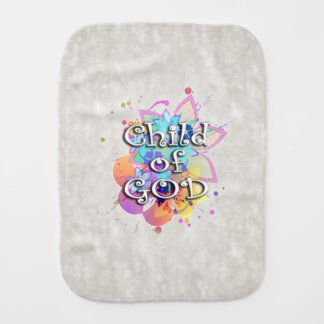 Child of God Rainbow Watercolor Burp Cloth
