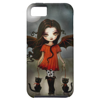 Child of Halloween Gothic Vampire with Cats iPhone 5 Covers