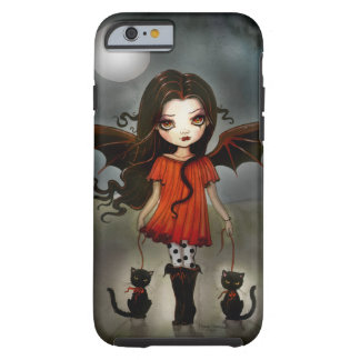 Child of Halloween Gothic Vampire with Cats Tough iPhone 6 Case