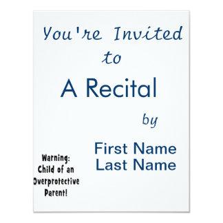 child of overprotective parent black 11 cm x 14 cm invitation card