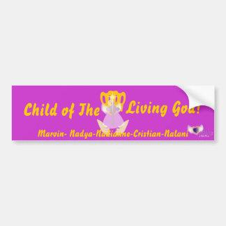 Child Of The Living God!-Customize Car Bumper Sticker