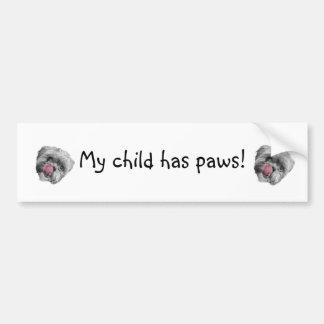 Child Paws Bumper Sticker