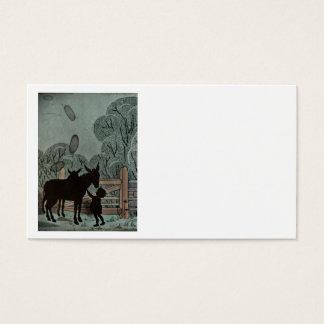 Child Petting Donkey Business Card