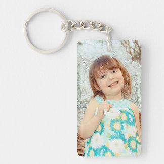 Child Photo Keepsake Single-Sided Rectangular Acrylic Key Ring
