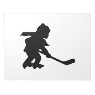 Child Playing Roller Hockey Note Pad