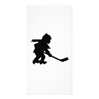 Child Playing Roller Hockey Photo Card