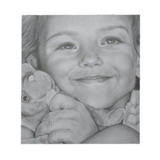 Child portrait notepad