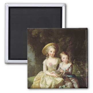 Child portraits of Marie-Therese-Charlotte Square Magnet