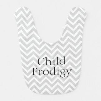 Child Prodigy Funny Chevron Stripes Bibs