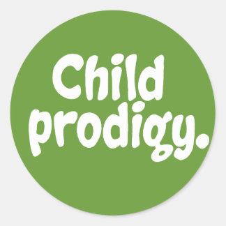 Child Prodigy Round Sticker