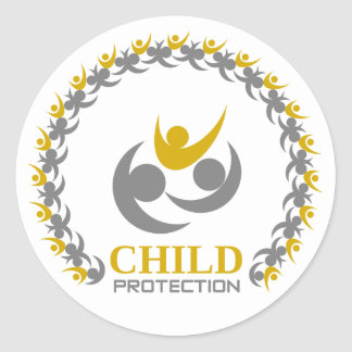 child protection classic round sticker