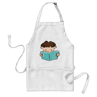 Child reading a book standard apron