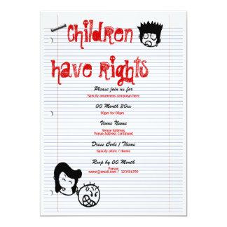 Child rights awareness campaign corporate personalized invitation