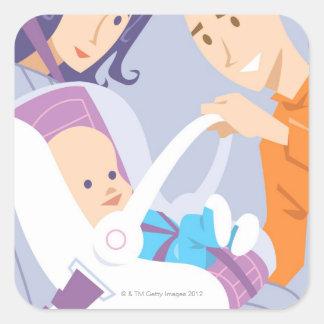 Child Safety Seat Square Sticker