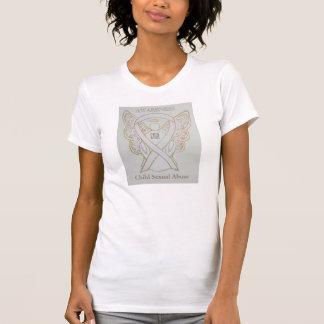 Child Sexual Abuse White Awareness Ribbon Shirt