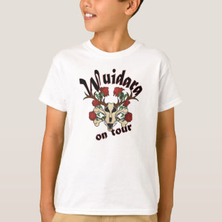 Child shirt motive: Skull deer with roses