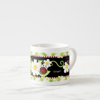Child Size Teacup for Tea Parties, Ladybug flower