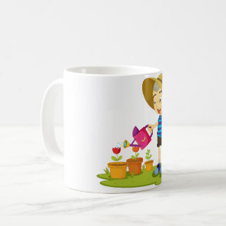 Child Watering Plants Mug