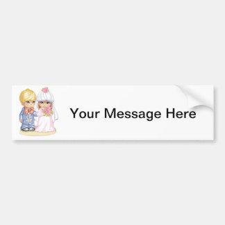 Child Wedding Dress Up Bumper Sticker