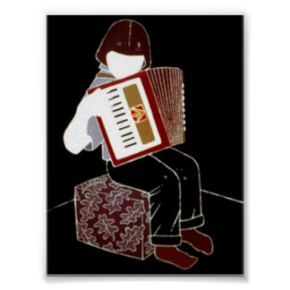 Child With Accordion Poster