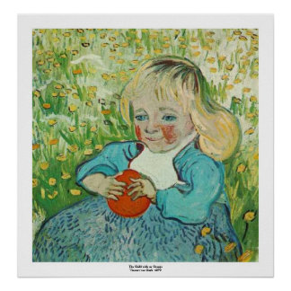 Child with an Orange by Vincent van Gogh Poster