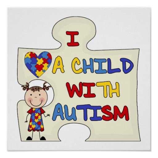 Child WIth Autism Brunette Girl 2 Poster