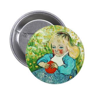 Child with Orange 1890 Vincent van Gogh Button