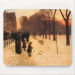 Childe Hassam - Boston in everyday twilight Mouse Pads