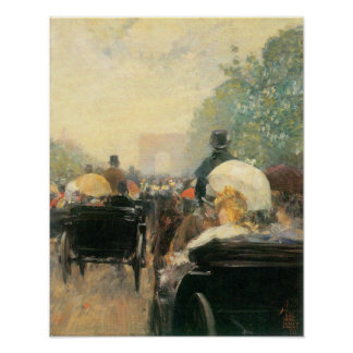 Childe Hassam - Carriage Parade Posters