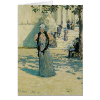 Childe Hassam - Characters in the sunlight Card