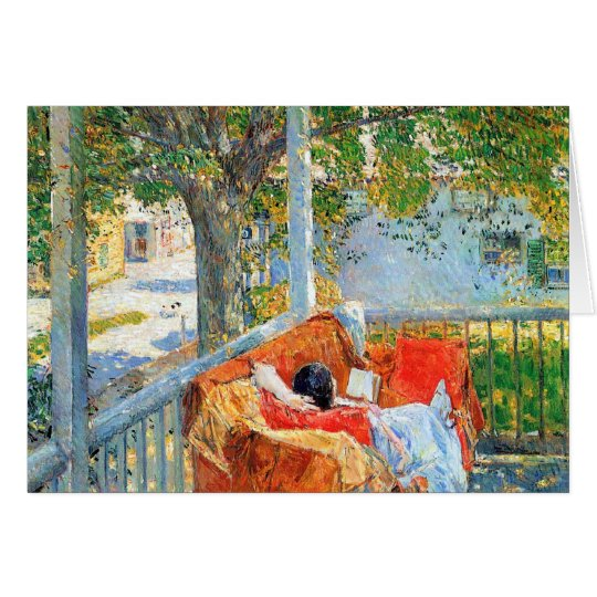 Childe Hassam - Couch and Veranda at Cos Cob Card