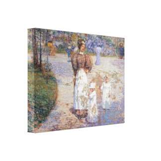 Childe Hassam - Spring in Central Park Canvas Prints