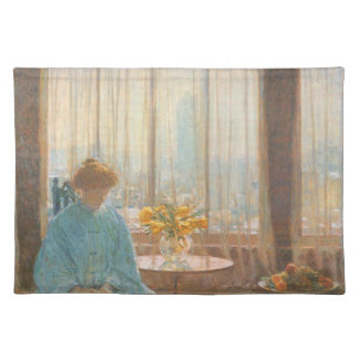 Childe Hassam - The breakfast room winter morning Place Mat