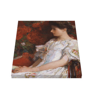 Childe Hassam Victorian chair CC0192 Impressionist Canvas Print