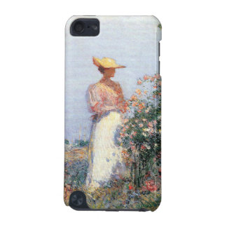 Childe Hassam - Woman in Garden iPod Touch (5th Generation) Cases