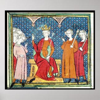 Childeric II , Merovingian King of Austrasia Poster