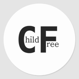 Childfree Classic Round Sticker