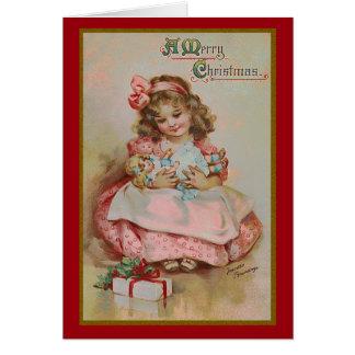 Childhood at Christmas Greeting Card
