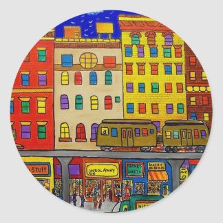 Childhood Bronx 6 by Piliero Classic Round Sticker