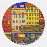 Childhood Bronx 6 by Piliero Round Sticker