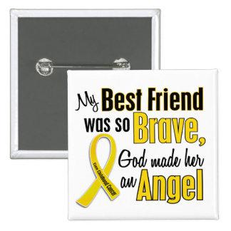 Childhood Cancer ANGEL 1 Best Friend (Female) Buttons