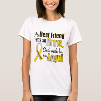 Childhood Cancer ANGEL 1 Best Friend (Female) T-Shirt